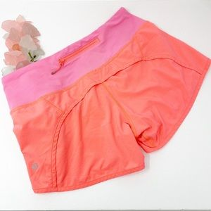 Lululemon Speed Shorts Neon Sz 4